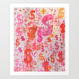 Barbie Money Art Print
