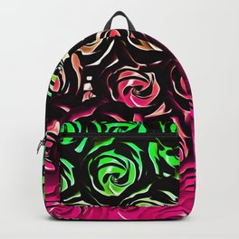 rose pattern texture abstract background in pink and green Backpack