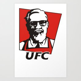 UFC Conor Mcgregor KFC Like Art Print