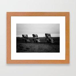 Jim Loves Mel Framed Art Print