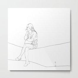 19.01.14 woman waiting Metal Print