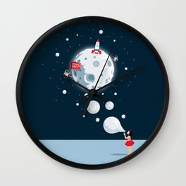 Reach For The Moon Wall Clock
