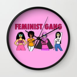 Feminist Gang Wall Clock