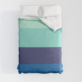 Beach House Colorful Pastel Blues Comforters