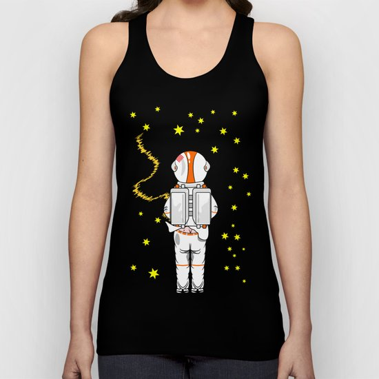 Astronaut Caught Short Unisex Tank Top