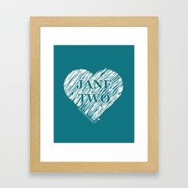 Heart Jane Two Framed Art Print