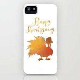 Happy Thanksgiving Turkey Minimal Abstract iPhone Case