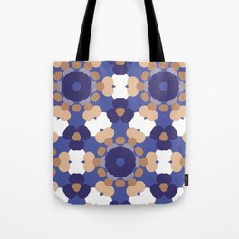 Abstract blue and beige. Tote Bag