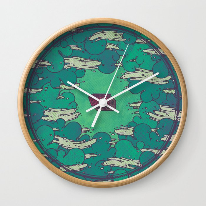 Away from Everything Wall Clock