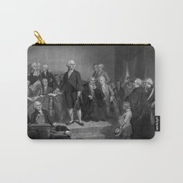 Washington Delivering His Inaugural Carry-All Pouch