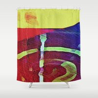 hook Shower Curtains featuring Hook Echo by David Lee