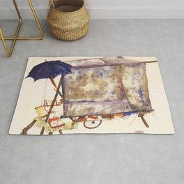 Egon Schiele - Street cart (new editing) Rug