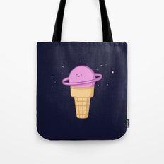 Saturn Cream Cone Tote Bag