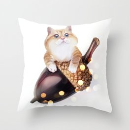 Squirrel? Throw Pillow