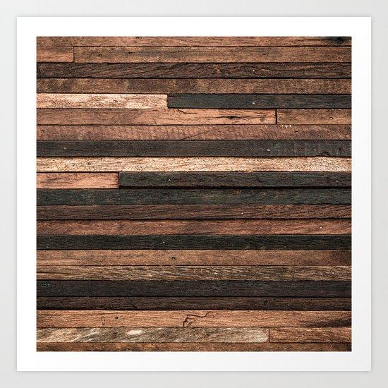 Vintage Wood Plank Art Print