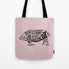 Pig Cuts Tote Bag