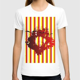 Abstract colorful striped T-shirt