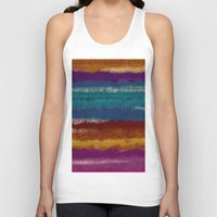knit Tank Tops featuring Knit stripes by Selkiesong