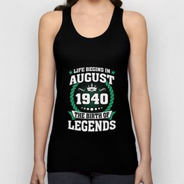August 1940 The Birth Of Legends Unisex Tank Top
