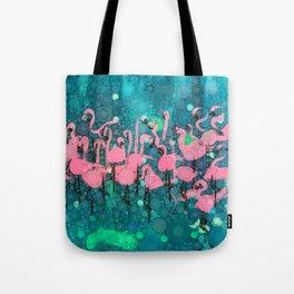 :: Flamingos Among Us :: Tote Bag