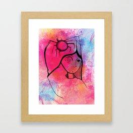 Spider Colour Splash Framed Art Print