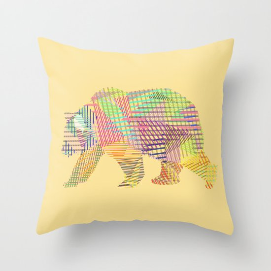 Grizzly Bear Throw Pillow