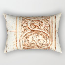 carved stonework Rectangular Pillow