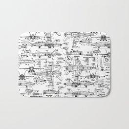 F-18 Blueprints Bath Mat