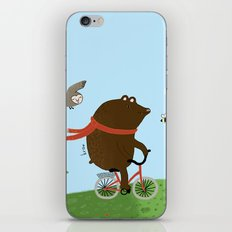 The Bear goes to the City iPhone & iPod Skin