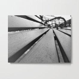 Boardwalk Bench Metal Print