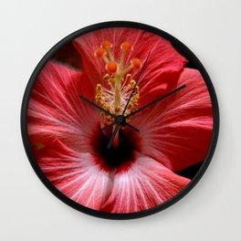 Pink Hibiscus 2 Wall Clock