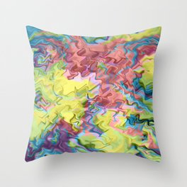 Lost in Thought; Fluid Abstract 56 Throw Pillow