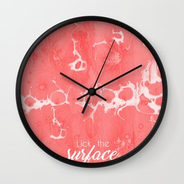 Lick The Surface Wall Clock