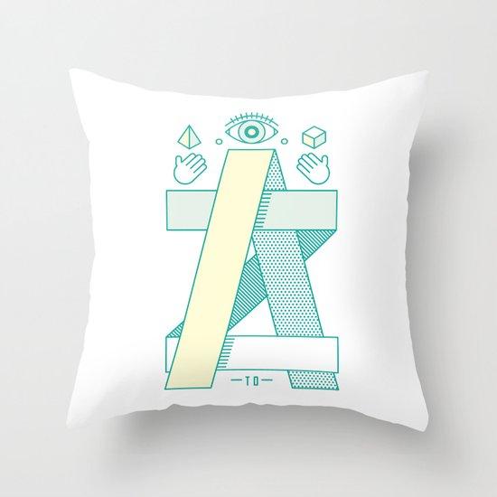 A to Z Throw Pillow