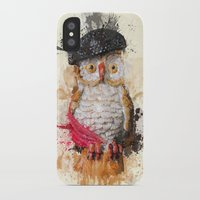 spain iPhone & iPod Cases featuring Spain Owl by Msimioni