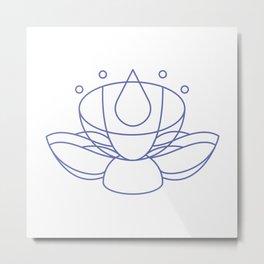 Meditation Lotus Metal Print