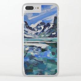 Rainbow Lake Clear iPhone Case