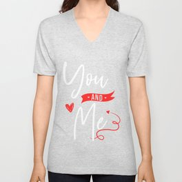 Valentines Day Couple Partner Matching Husband Wife Girlfriend Boyfriend You And Me Unisex V-Neck