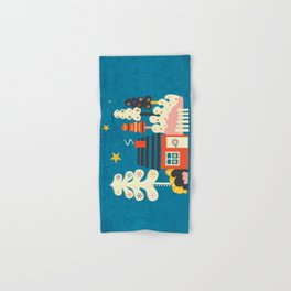 Festive Winter Hut Hand & Bath Towel