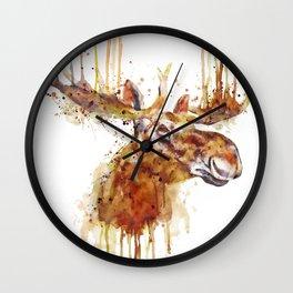 Moose Head Wall Clock