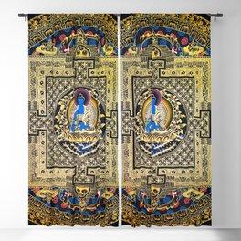 Rose Gold Buddha Thangka Mandala Blackout Curtain