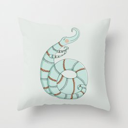 Curlicue Monster Throw Pillow