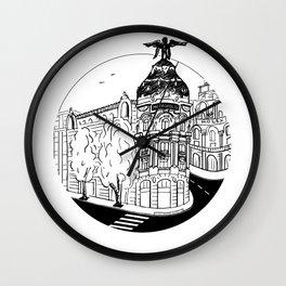 Memories of Madrid Wall Clock