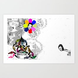 I Shit Andy Warhol 2 - Horizontal Version 2010 Art Print