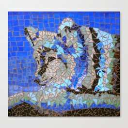 Wolf Mosaic Canvas Print