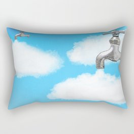How clouds are formed Rectangular Pillow