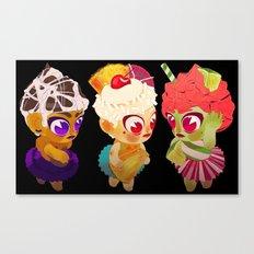 Cupcake Girls Canvas Print