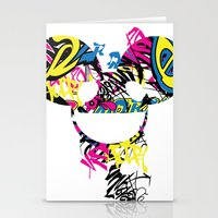 deadmau5 Stationery Cards featuring Deadmau5 by Sitchko Igor