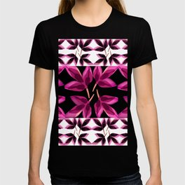 Pink Charcoal Leaves T-shirt
