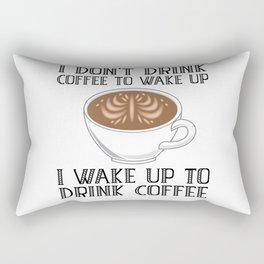 Coffee Caffeine Barista Latte Art Rectangular Pillow